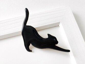 黒猫ノビ〜! ブローチ(ボックス入)の画像