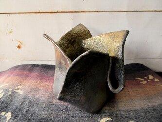 炭化焼き締め花器 kaki0205-1【現品のみ】の画像