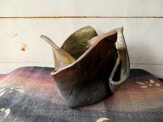 炭化焼き締め花器 kaki0205-3【現品のみ】の画像