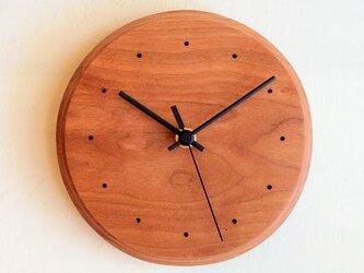 掛け時計 ラウンド チェリーの画像