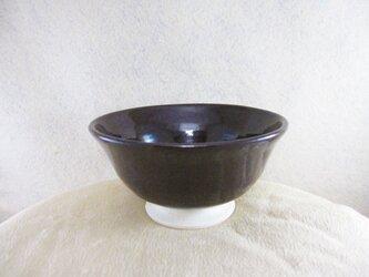陶器ご飯茶碗(やや大)マロン釉の画像