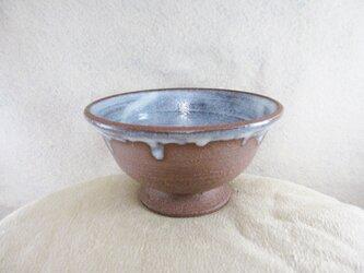 陶器ご飯茶碗(やや大)赤土+藁白釉の画像