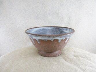 陶器ご飯茶碗(中)赤土+藁白釉の画像