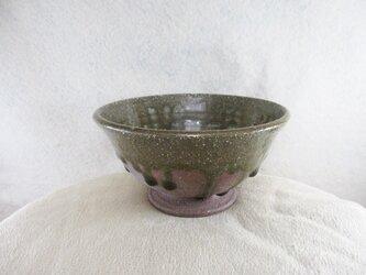 陶器ご飯茶碗(やや大)赤土+ビードロの画像
