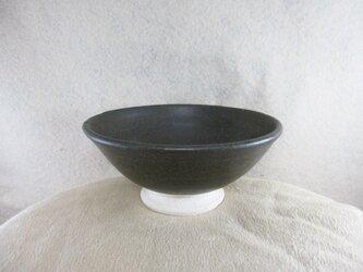 陶器ご飯茶碗(大)黒マットの画像