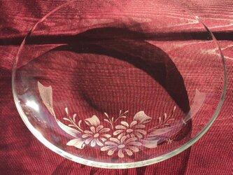 マーガレットのプレートセット〜手彫りガラス〜の画像