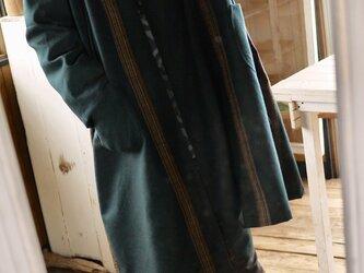 男性ウール反物から羽織コートの画像
