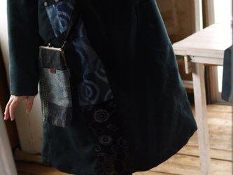 男性ウール着物反物からワンピースの画像