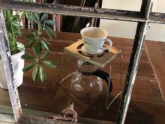コーヒー ドリップスタンド Coffee ハンドドリップ用1ポイント 珈琲 おしゃれ ギフト 贈り物 his-0164の画像