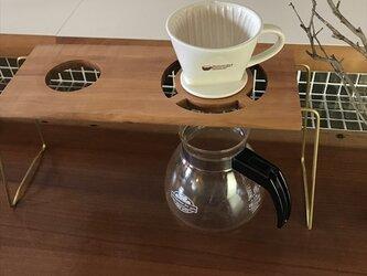 コーヒー ドリップスタンド Coffee ハンドドリップ用2ポイント 珈琲 おしゃれ ギフト 贈り物 his-0168の画像