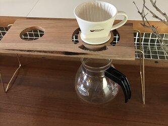 コーヒー ドリップスタンド Coffee ハンドドリップ用2ポイント 珈琲 おしゃれ ギフト 贈り物 his-0169の画像