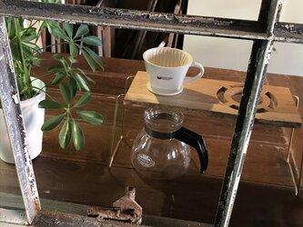 コーヒー ドリップスタンド Coffee ハンドドリップ用2ポイント 珈琲 おしゃれ ギフト 贈り物 his-0170の画像