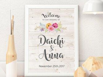 海外風パステル水彩花♡ウェルカムボード結婚式の画像