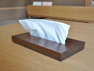 薄型ティッシュボックス ウォールナットの画像