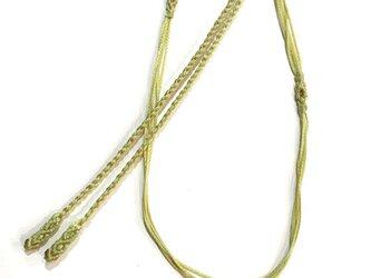マクラメ編みネックレス紐【つる】うぐいす・わかばの画像