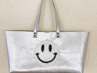 ぷっくりニコちゃん横長トートバッグの画像