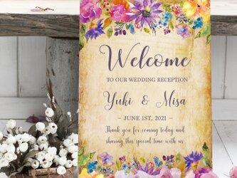 〜velvet flower〜パネル加工印刷ウェルカムボード結婚式の画像