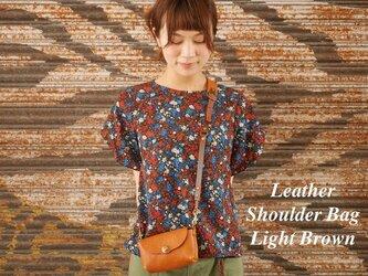 【受注製作】本革ショルダーバッグ (Light Brown)の画像