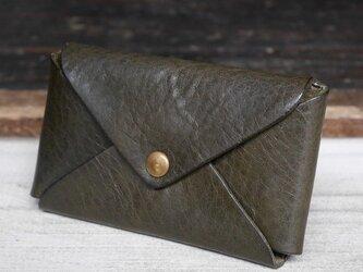 【大容量】1枚革カードケース(Green)の画像