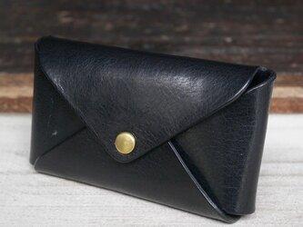 【大容量】1枚革カードケース(Black)の画像