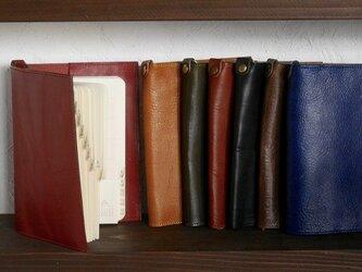 本革ブックカバー カラー選択の画像