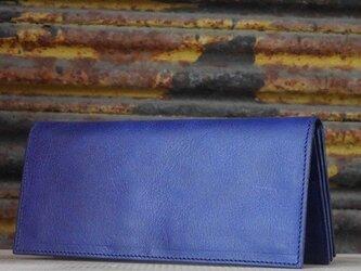 本革ロングウォレット(Blue)の画像