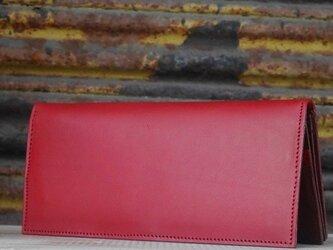 本革ロングウォレット(Red)の画像