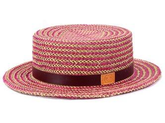 貴重なデッドストックを使用したカンカン帽L ピンク(18SSS-020)の画像