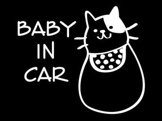 baby in car ベイビーインカー カッティングステッカーの画像