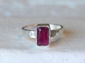 古代スタイル*天然ピンク・トルマリン 指輪*9号 SVの画像