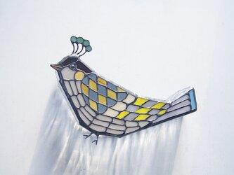 模様の鳥 壁掛けランプの画像