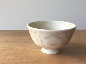 茶碗 赤桃ストライプの画像