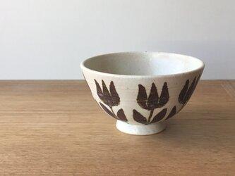 茶碗 鉄絵チューリップの画像