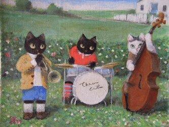 かわいいジャズ・トリオの画像