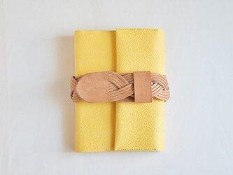 【受注生産】ベルトの手帖カバー / mimoza gialloの画像