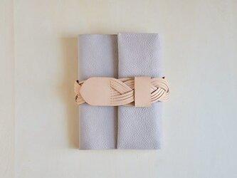 【受注生産】ベルトの手帖カバー / argilla (gray)の画像