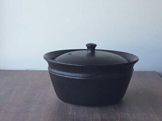 キャセロール大 栗茶の画像