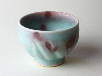 海の色の湯飲みNO.1 /青磁 /釉裏紅 /陶芸 /茶器 /湯呑 /celadonglaze / blue glazeの画像