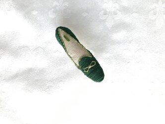 shoe shoe shoe刺繍ブローチNo.70(グリーン)の画像