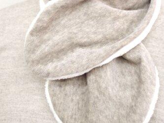 Organic Cotton Fur ふわふわネックウォーマー(ヤク混グレー)の画像