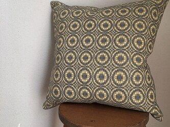 cushion cover[手織りクッションカバー] ヴィンテージ風イエローの画像