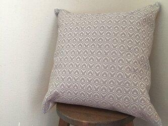 cushion cover[手織りクッションカバー] ライトグレーの画像