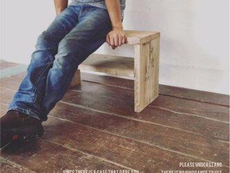 数量限定 OWC ベンチ 踏み台  サイドテーブル 椅子 インダストリアル 古材 花台 フラワースタンド オーダーメイドの画像