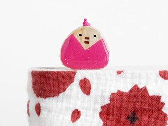 寄木のおひなさましおり ピンク(ブックマーカー)の画像