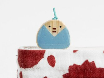 寄木のおひなさましおり 青(ブックマーカー)の画像