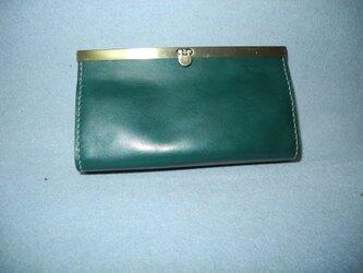 文鎮口金の長財布Ⅱ 緑の画像