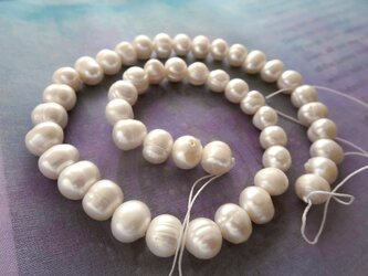 *♥Borneo Freshwater Pearls Pure White*ボルネオ島 淡水パール 1連♥*の画像