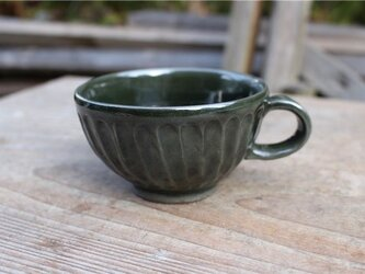 グリーンの器 カップ[18Fev-16]《釉薬》の画像