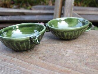 グリーンの器 ワンカップ小鉢[18Fev-19]《釉薬》の画像