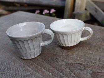 粉引の器 カップ大小セット[18Fev-31]《釉薬》の画像